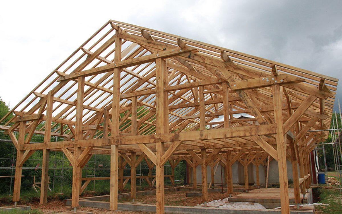 charpente de maison réalisée par les Charpentiers montbardois à Montbard