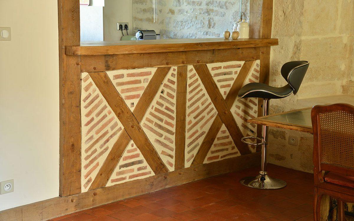 aménagement intérieur en bois par les Charpentiers montbardois à Montbard