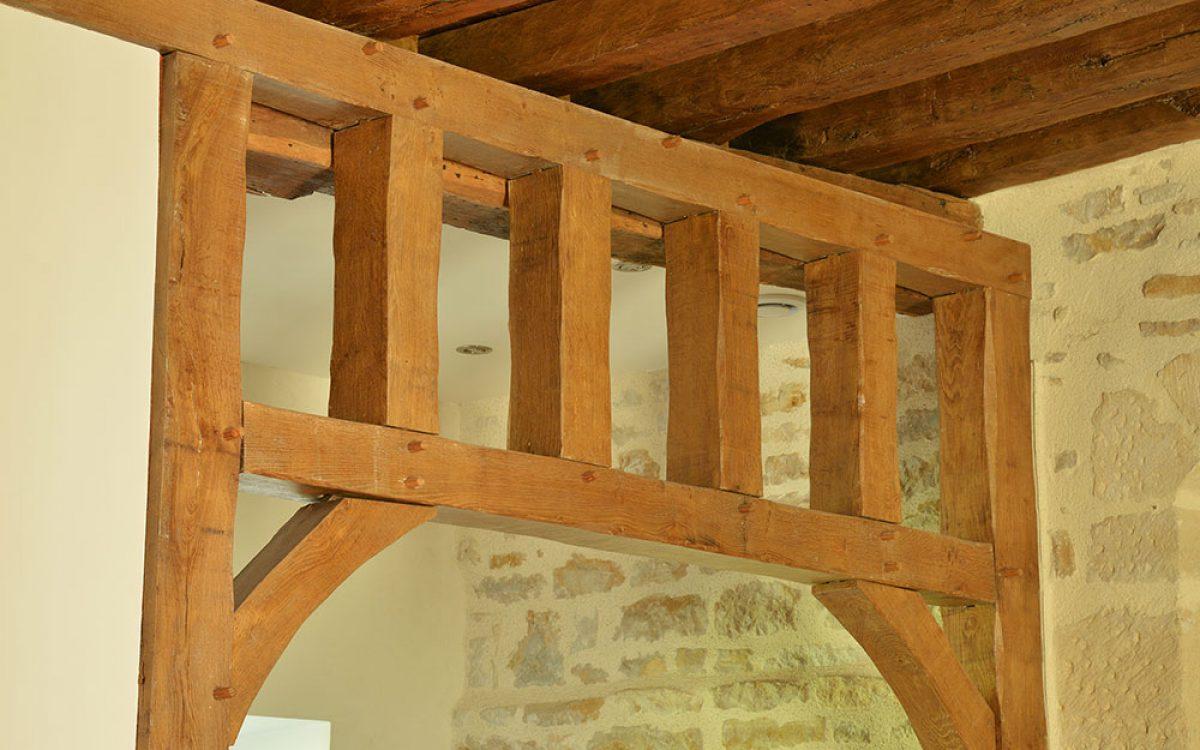 charpente en aménagement intérieur bois par les Charpentiers montbardois à Montbard
