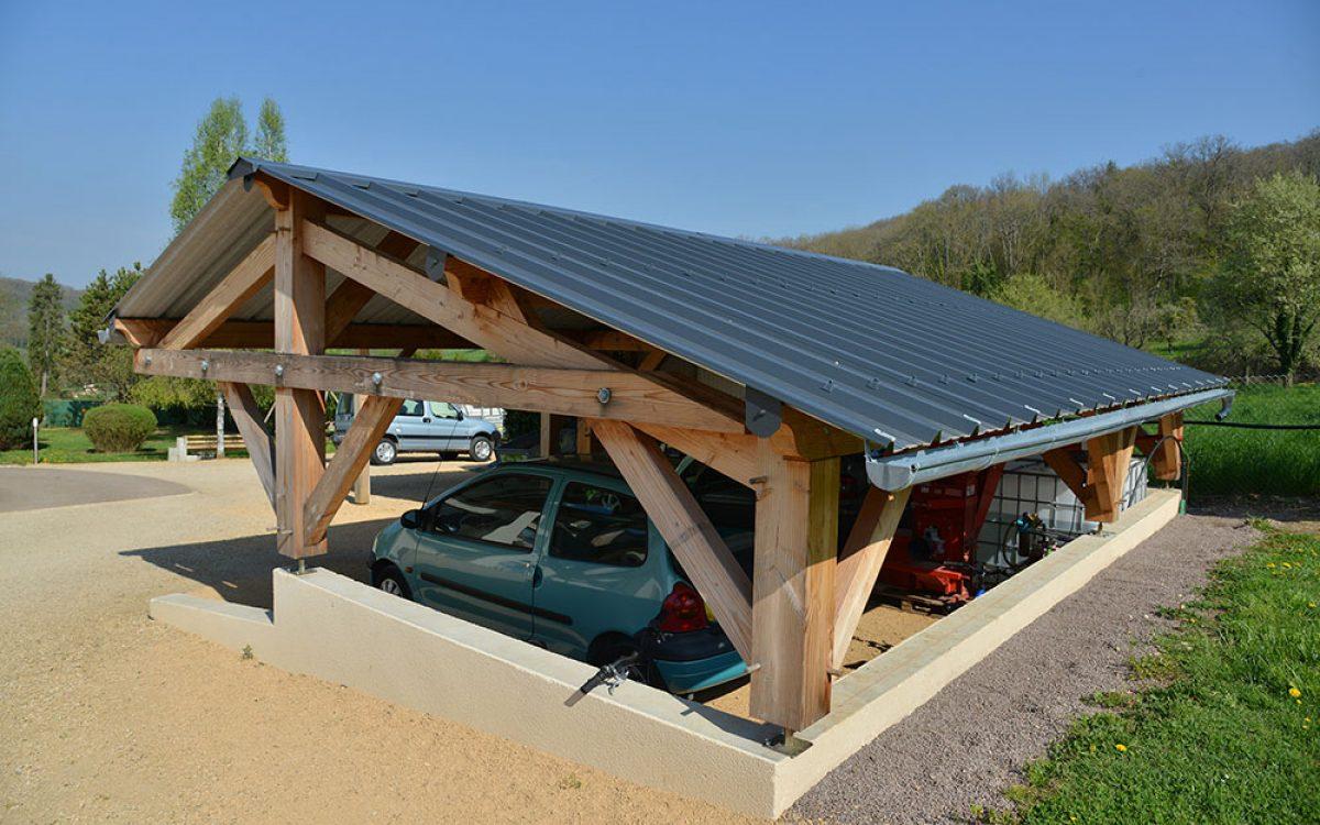construction d'un garage réalisé par les Charpentiers montbardois à Montbard
