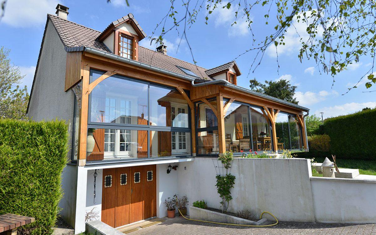 maison construction bois par les Charpentiers montbardois à Montbard
