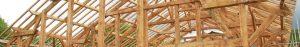 charpente réalisée par les Charpentiers montbardois à Montbard