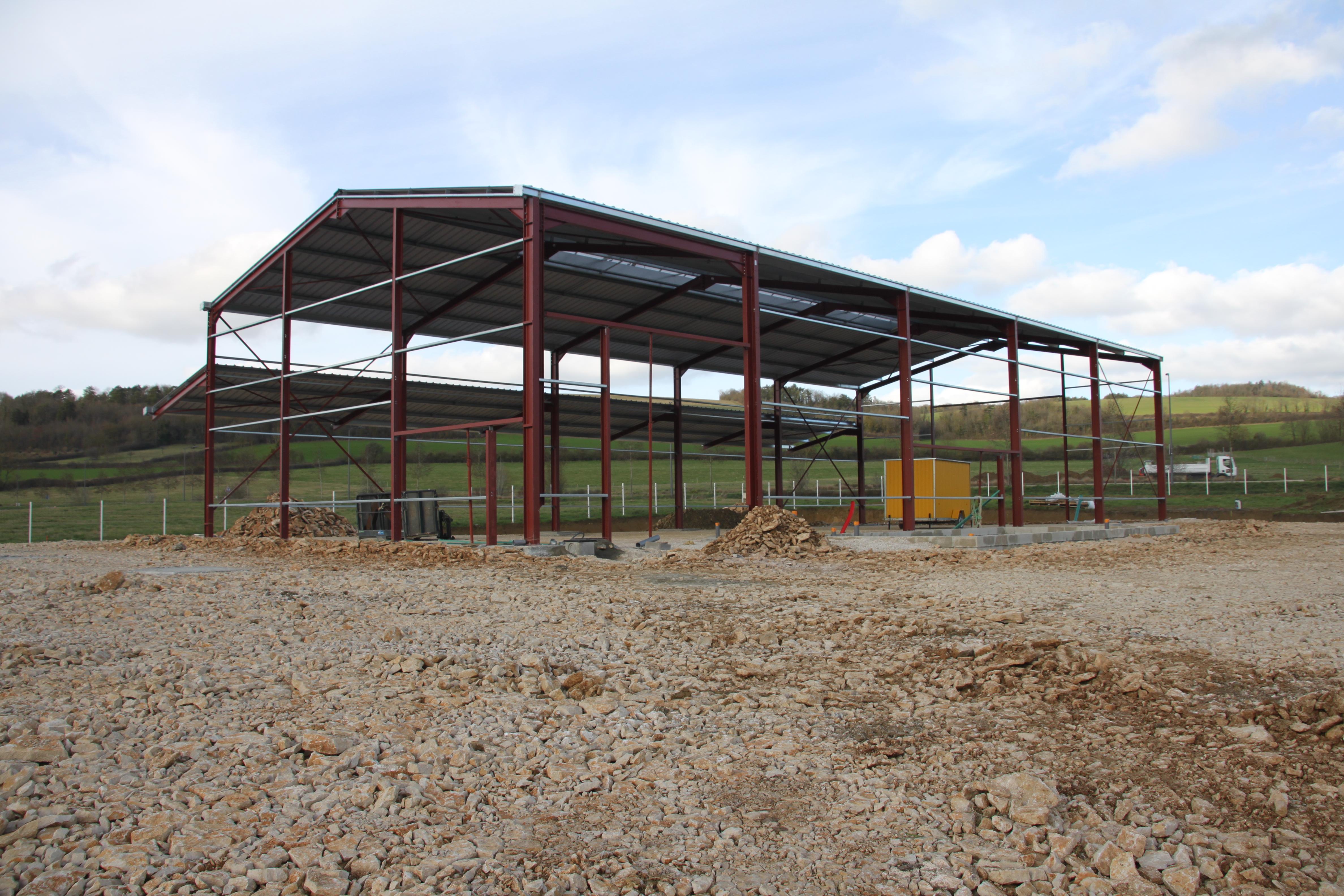 Notre bâtiment sort de terre à Fain-lès-Montbard
